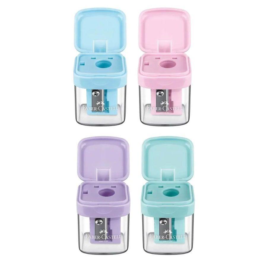 Apontador MiniBox Tom Pastel Faber-Castell