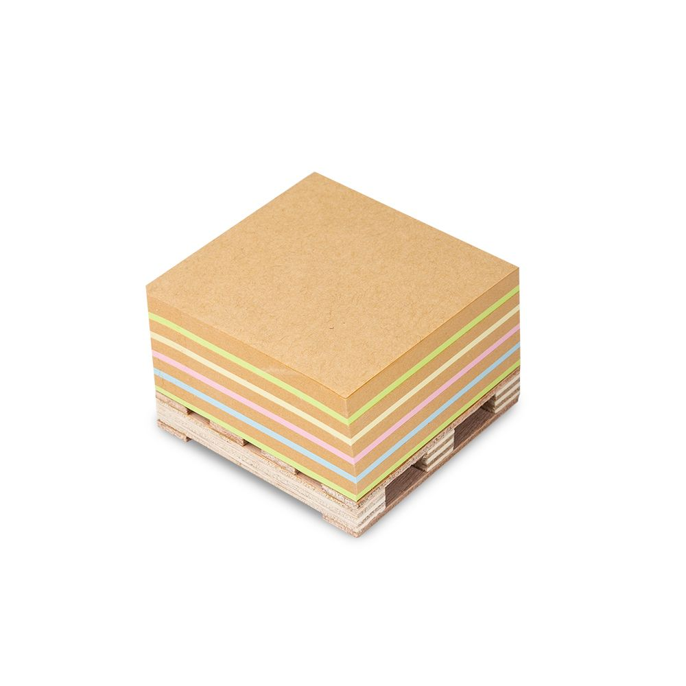 Bloco Adesivo Cubo Kraft Color Maxprint