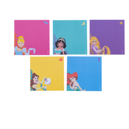 Bloco Adesivo Princesas Disney 76mm x 76mm Maxprint