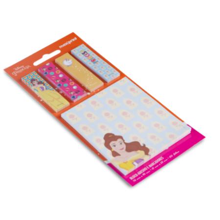 Bloco Adesivo Princesas Disney Kit A Bela e a Fera Maxprint
