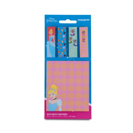 Bloco Adesivo Princesas Disney Kit Cinderela Maxprint