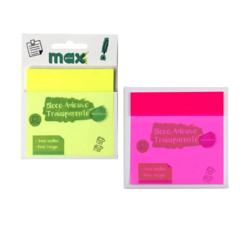 Bloco Adesivo Transparente Maxprint