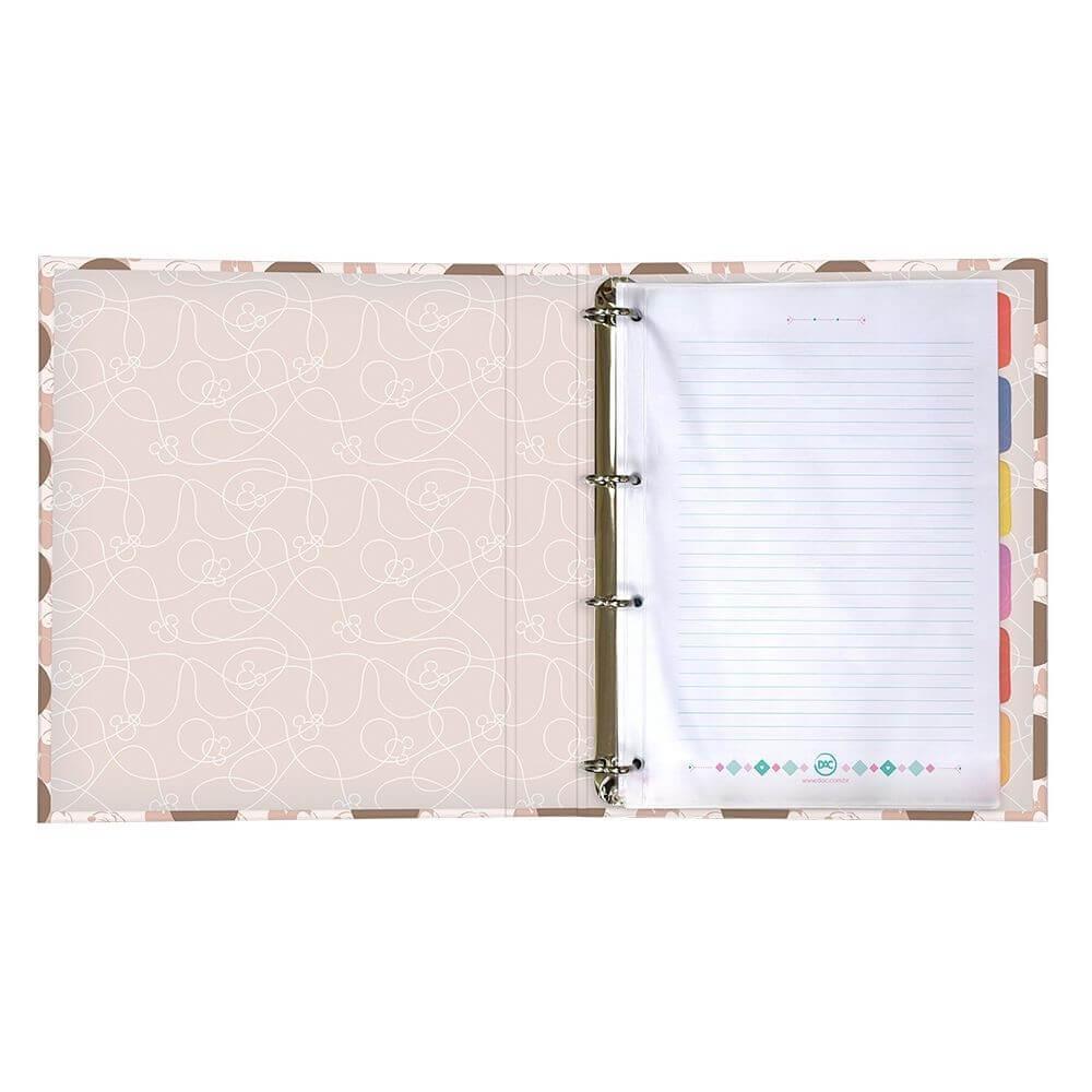 Caderno Argolado 1/4 Minnie Dac