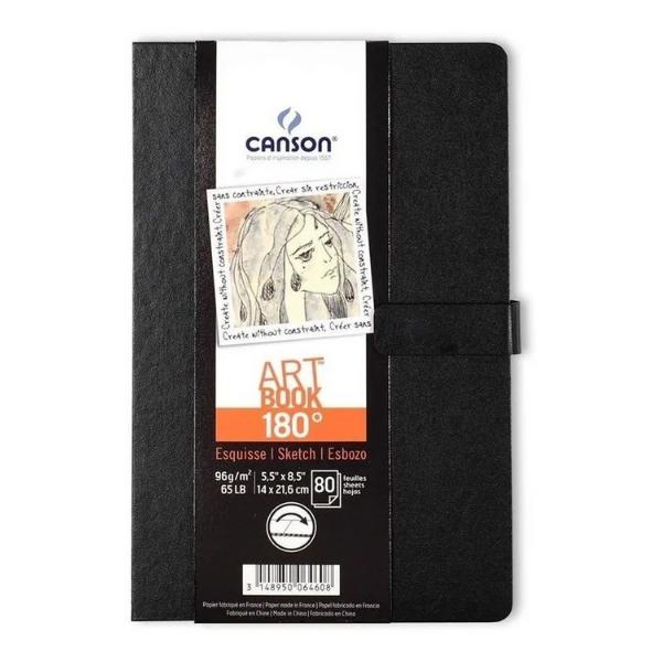 Caderno Artbook 180 Costurado A5 96g/m² Canson