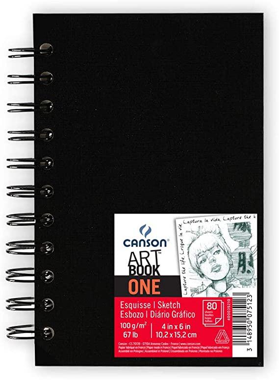Caderno Artbook One Espiral 100g/m² A6 Canson