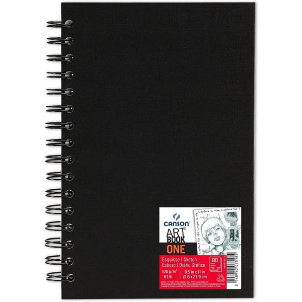 Caderno Artbook One Espiral 100g/m² A4 Canson