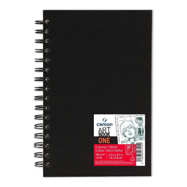 Caderno Artbook One Espiral A5 100g/m² Canson