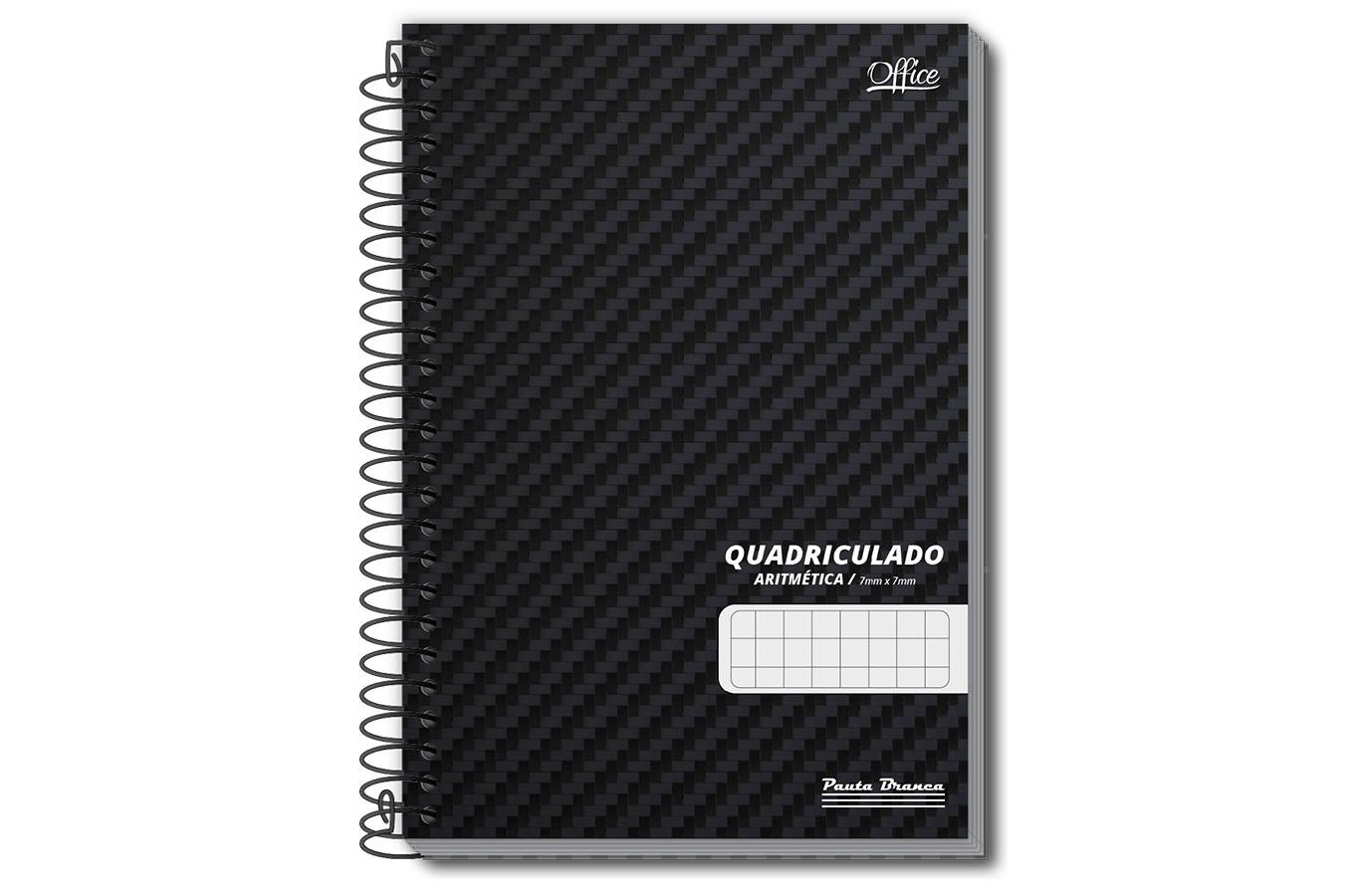 Caderno Quadriculado Espiral 1/4 Pauta Branca