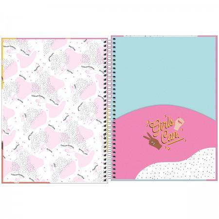 Caderno Universitário Espiral 10 Matérias Oh My God Tilibra