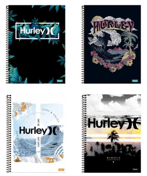 Caderno Universitário Espiral 15 Matérias Hurley Foroni