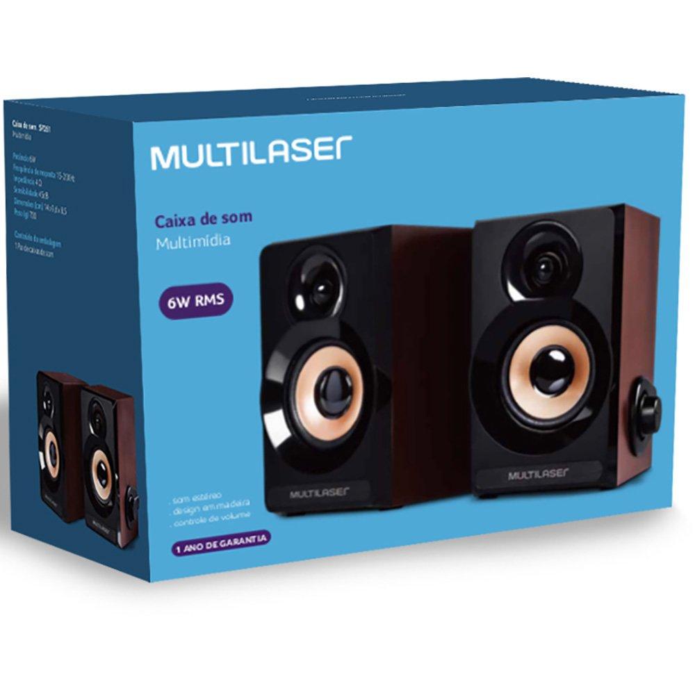 Caixa de Som Multimídia SP261 Multilaser