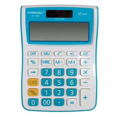 Calculadora de Mesa Azul Procalc PC100BL