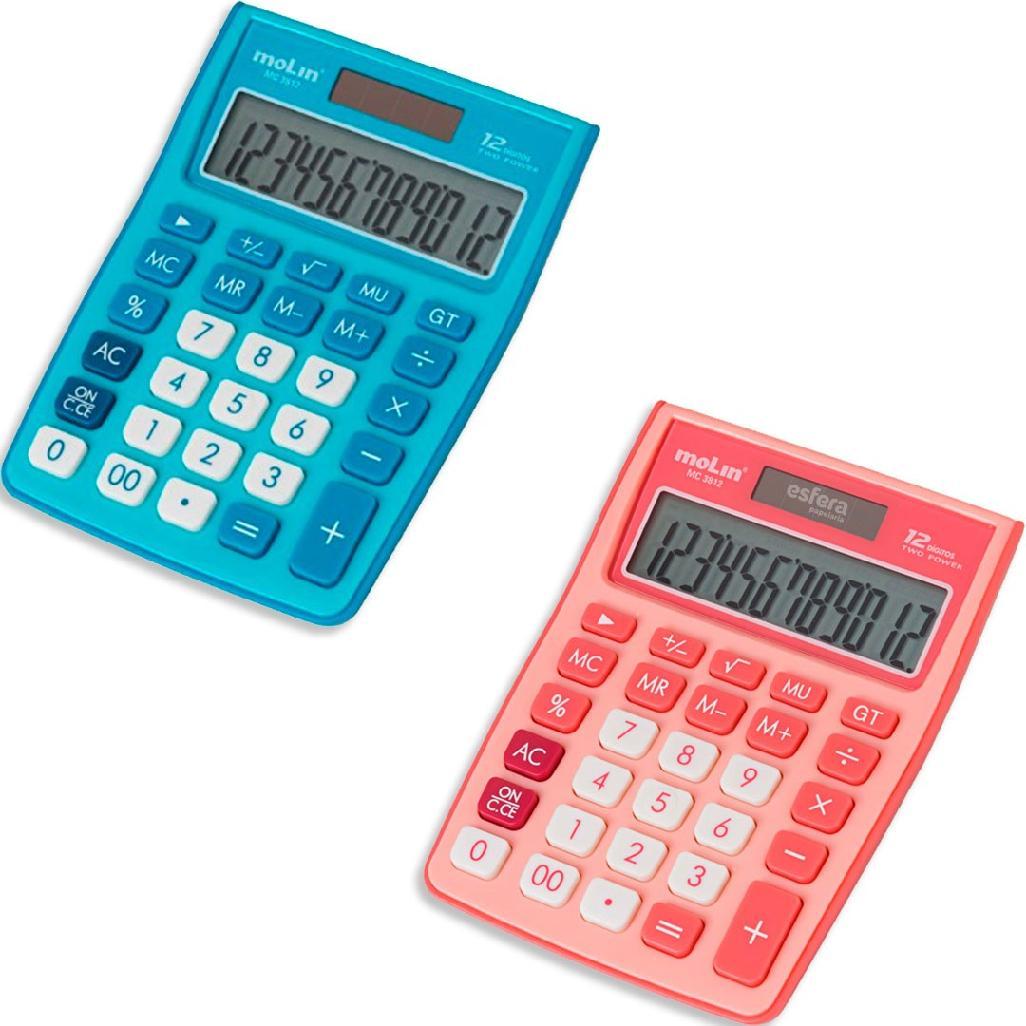 Calculadora de Mesa MC3812 Molin