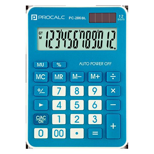 Calculadora de Mesa PC286 Azul Procalc