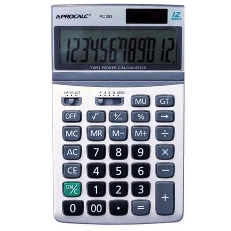 Calculadora de Mesa Procalc PC263 Prata
