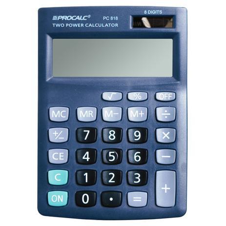 Calculadora de Mesa Procalc Pc818 Preta (12dígitos)