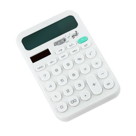 Calculadora de Mesa Linha Soul Branca BRW