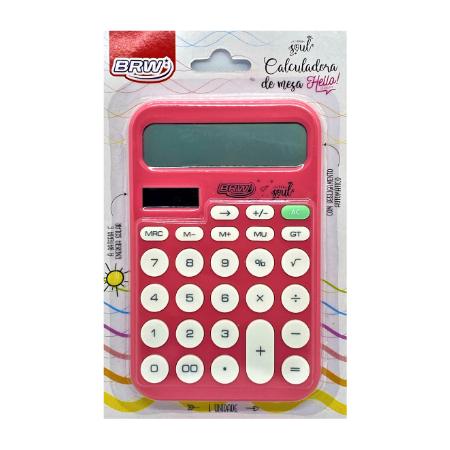 Calculadora Grande de Mesa Soul Rosa Brw 12 Dígitos (cc4003)
