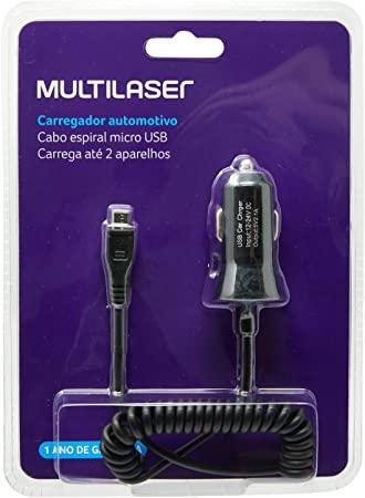 Carregador Automotivo Micro USB CB083 Multilaser