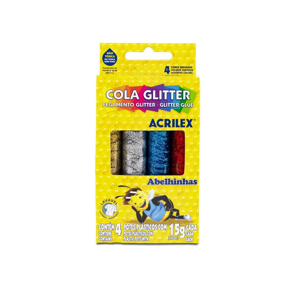 Cola Glitter 4 Cores Acrilex