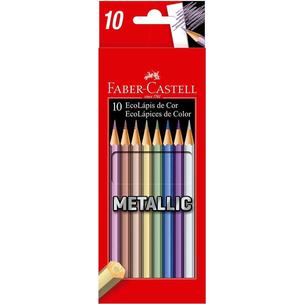 Lápis de Cor 10 Cores Metallic Faber-Castell