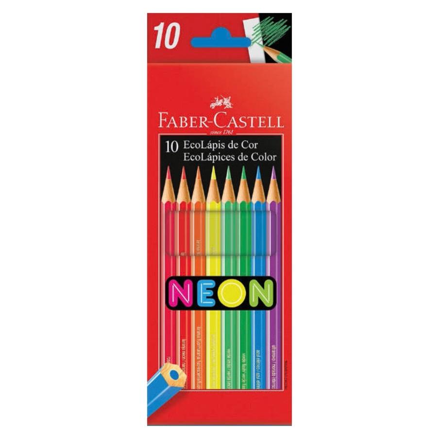 Lápis de Cor 10 Cores Neon Faber-Castell