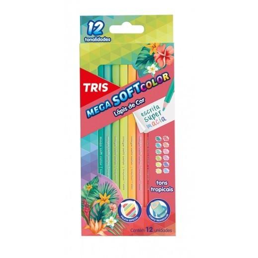 Lápis de Cor 12 Cores Tons Tropicais Tris