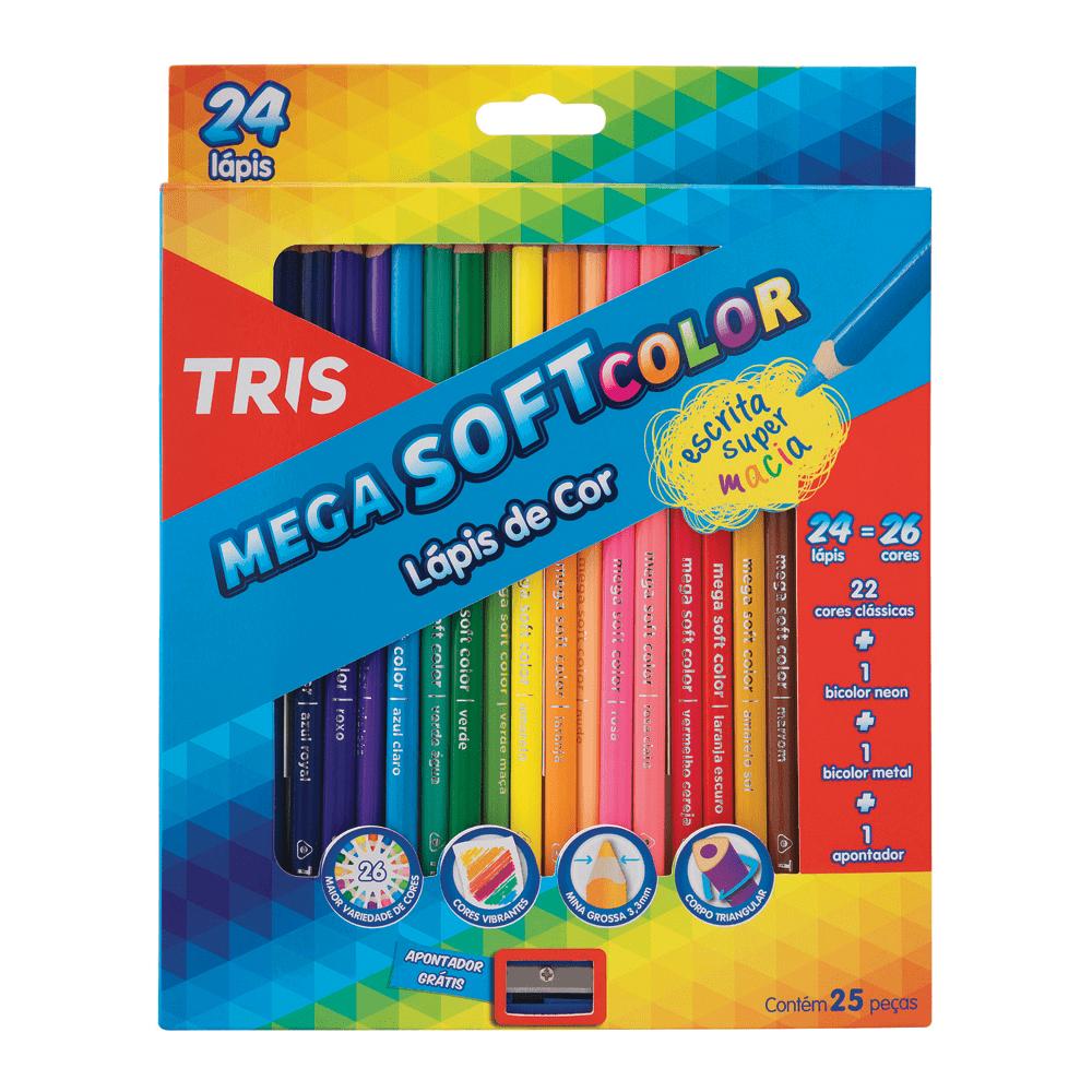 Lapis de Cor 24 Cores Mega Soft Tris