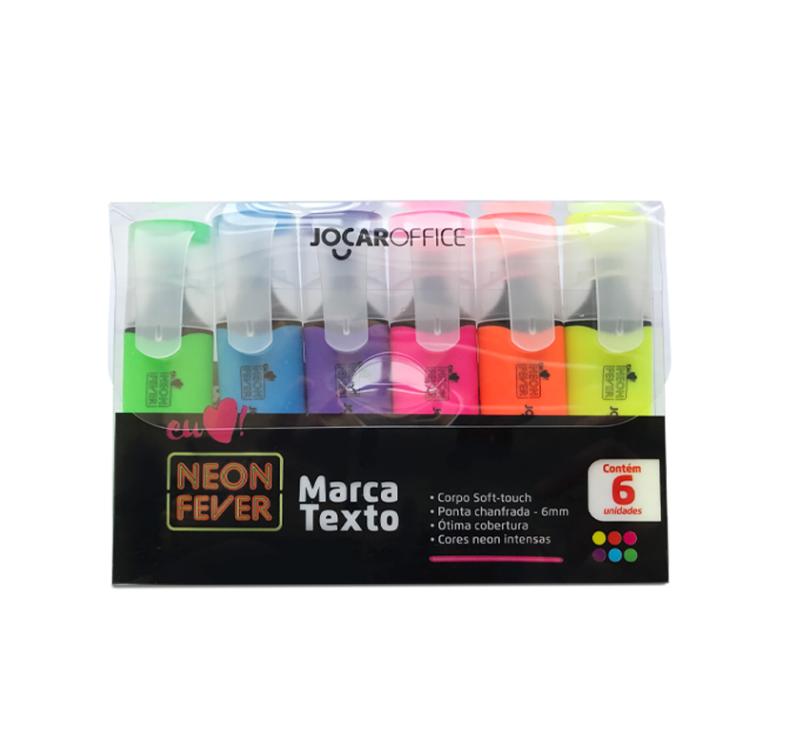 Marca Texto Neon Fever com 6 Jocar Office