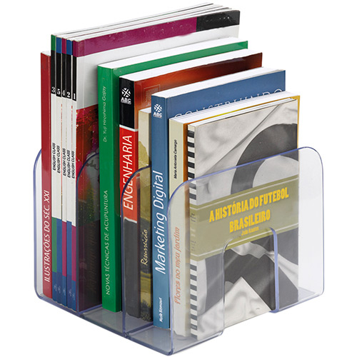Organizador Para Livros Standard Preto Waleu