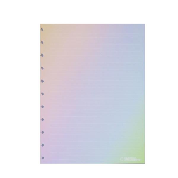 Refil de Caderno Inteligente Rainbow Pautado Médio
