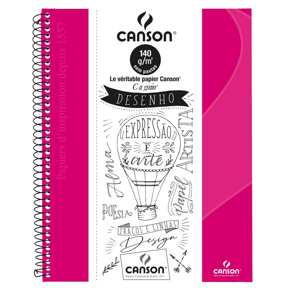 SketchBook Expressão e Arte 140gr Rosa Canson