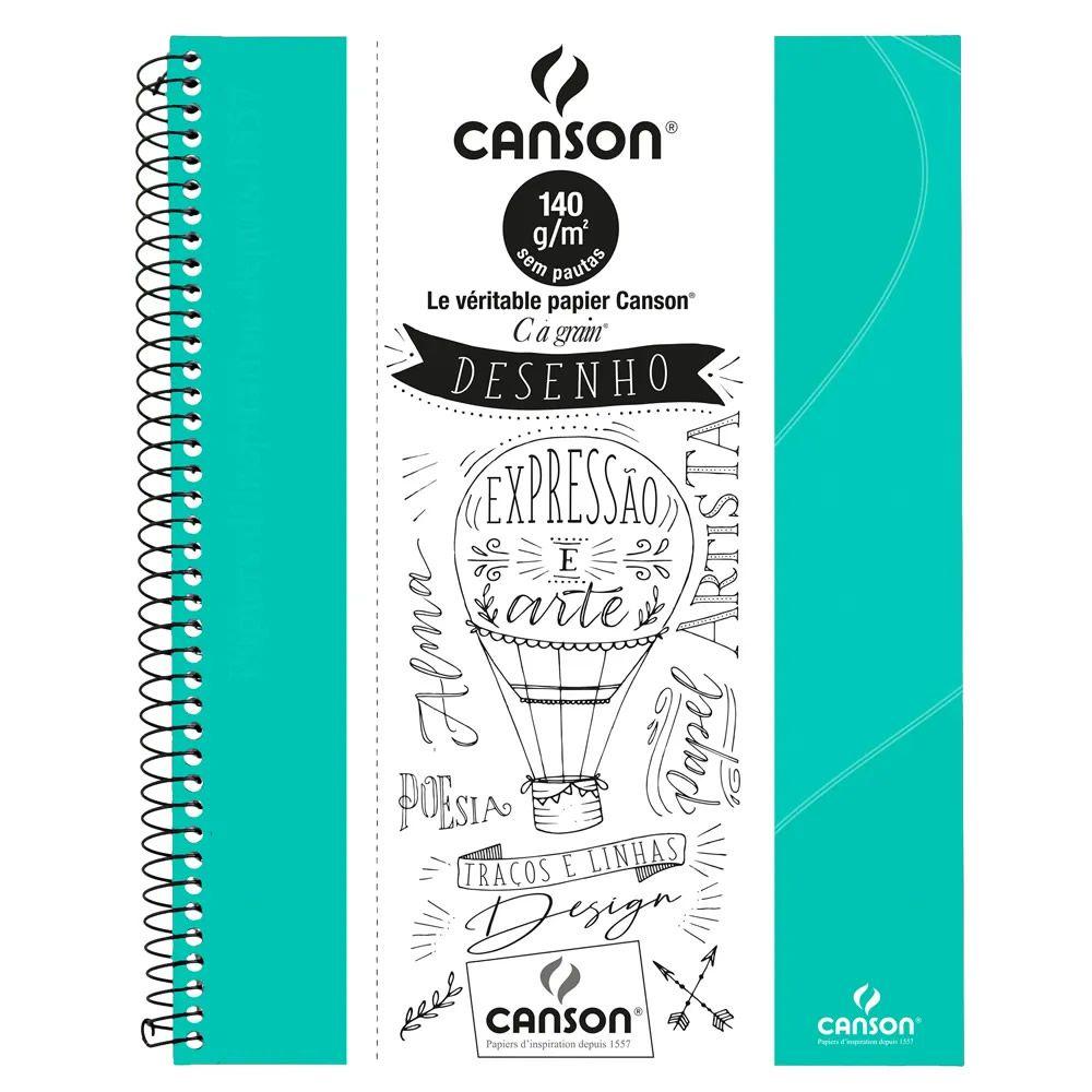 SketchBook Expressão e Arte 140gr Verde Tiffany Canson