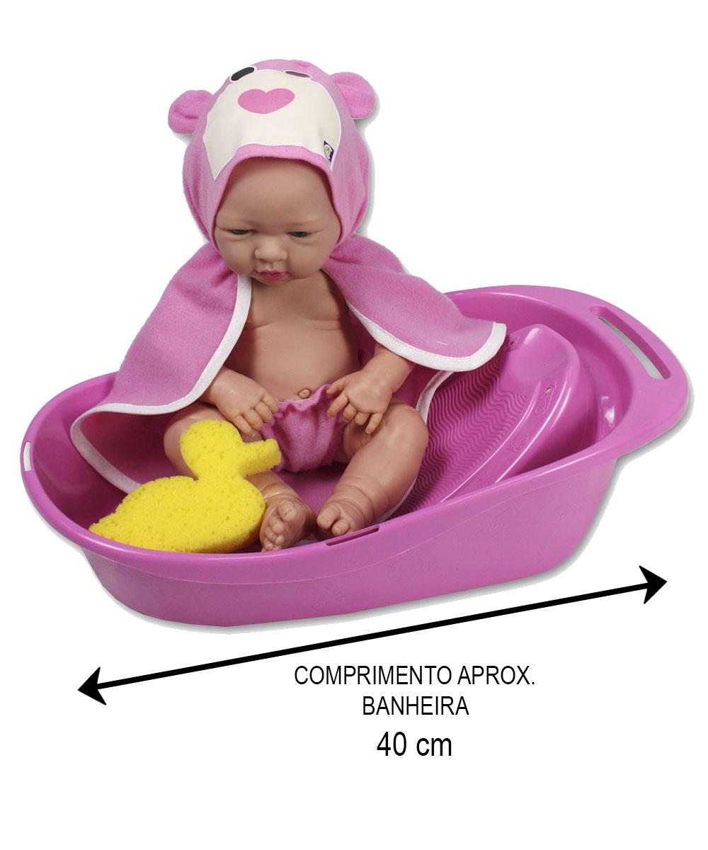 BABY NINOS NA BANHEIRA ROUPAO ROSA 2158*