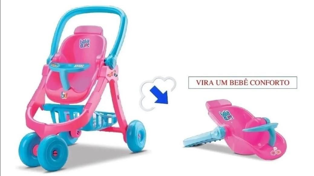 CARRINHO DE BONECA BABY ALIVE 8141*