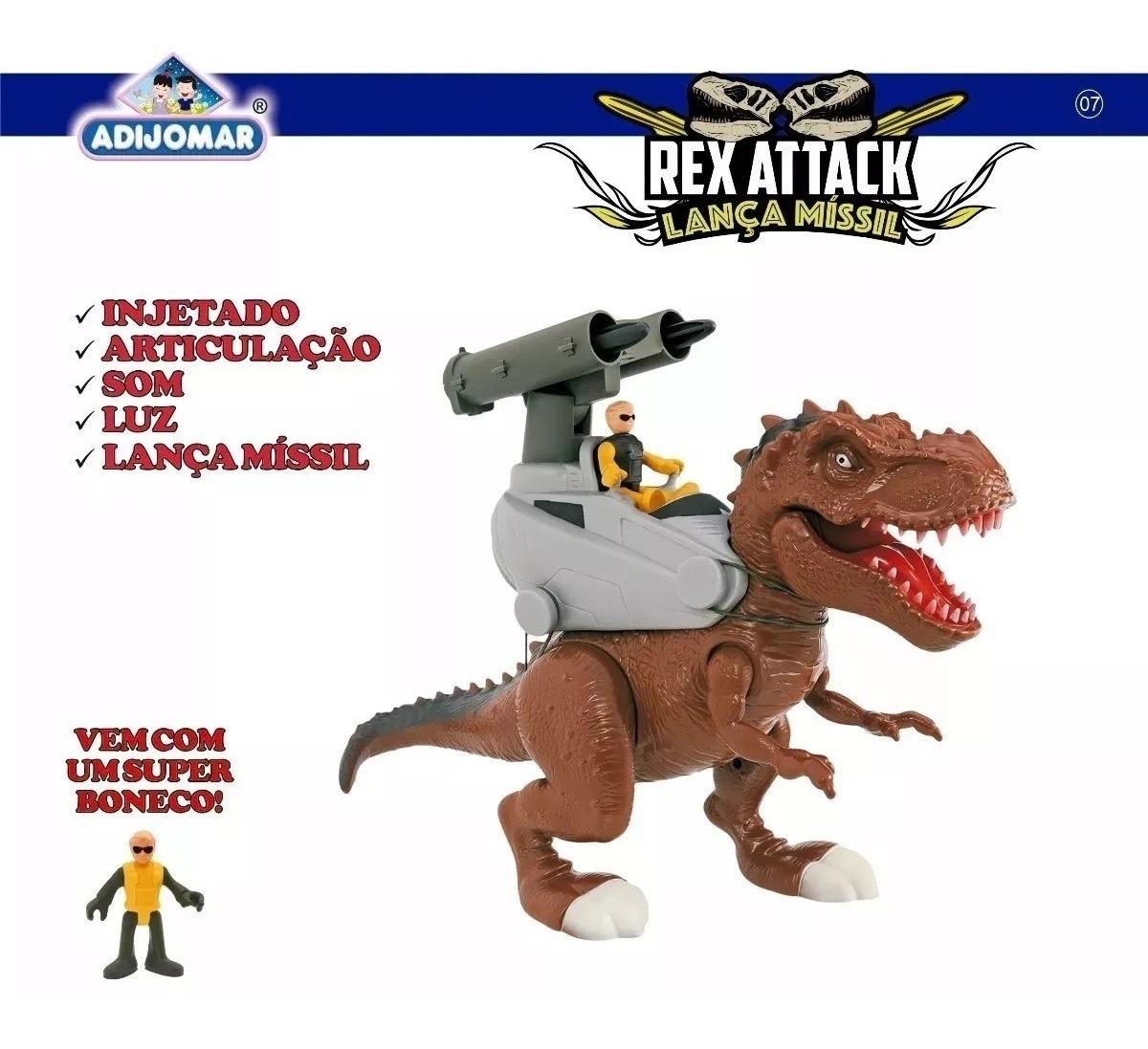 REX  ATTACK LANCA MISSIL MARROM 863*