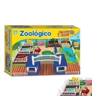 ZOOLOGICO 43 PCS NIG 234*