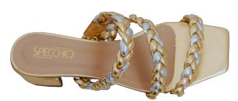 Sandália Fergie Specchio Brand Dourada