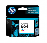 CARTUCHO DE TINTA ORIGINAL HP 664 COLOR 2ML F6V28AB