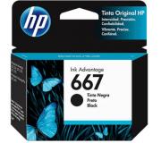 CARTUCHO DE TINTA ORIGINAL HP 667 PRETO 2ML 3YM79AL