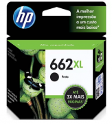 CARTUCHO DE TINTA ORIGINAL HP CZ105AB REF 662 XL PRETO 6,5ML