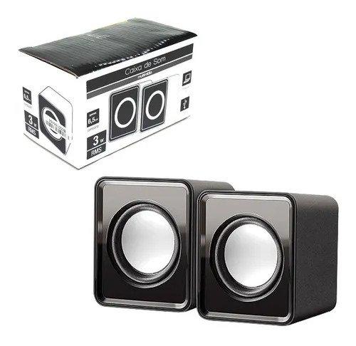 Caixa De Som 2.0 Mini 3w Rms Sp151 Usb P2 Multilase