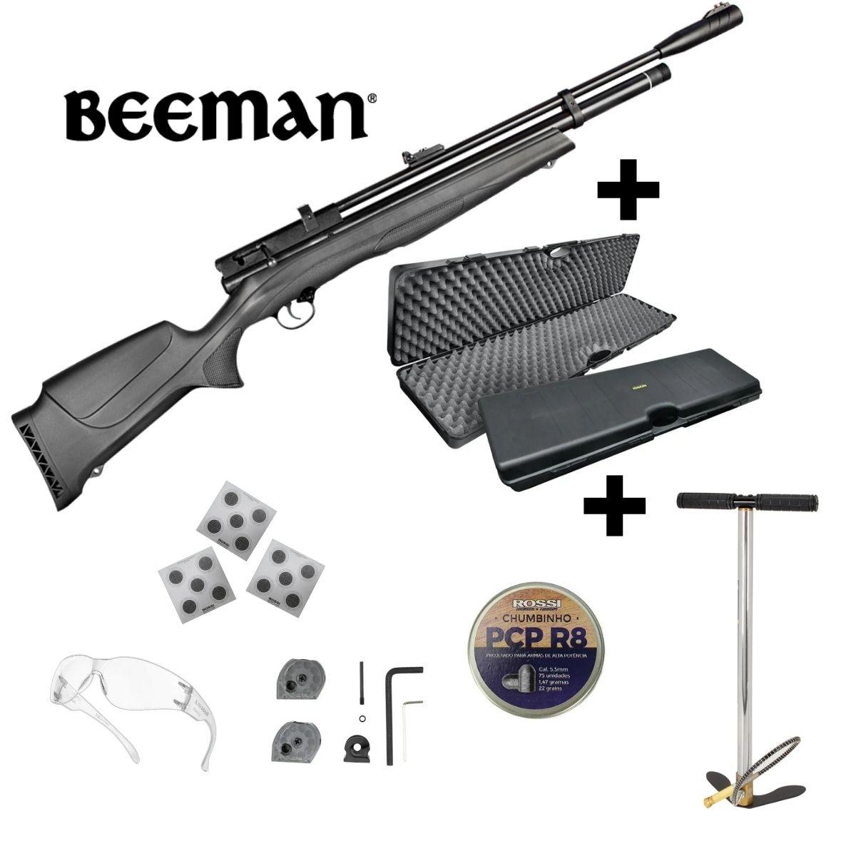 Carabina Pressão Rossi Beeman 1336 5,5mm + Kit Maleta Bomba