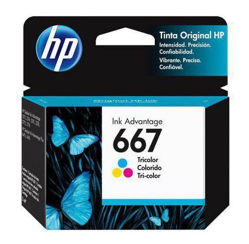 CARTUCHO DE TINTA ORIGINAL HP 667 COLOR 2ML 3YM78AL