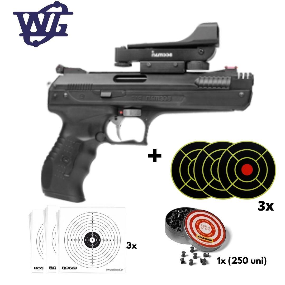 Pistola de Pressão Beeman 2006 5,5mm Rossi + Red Dot