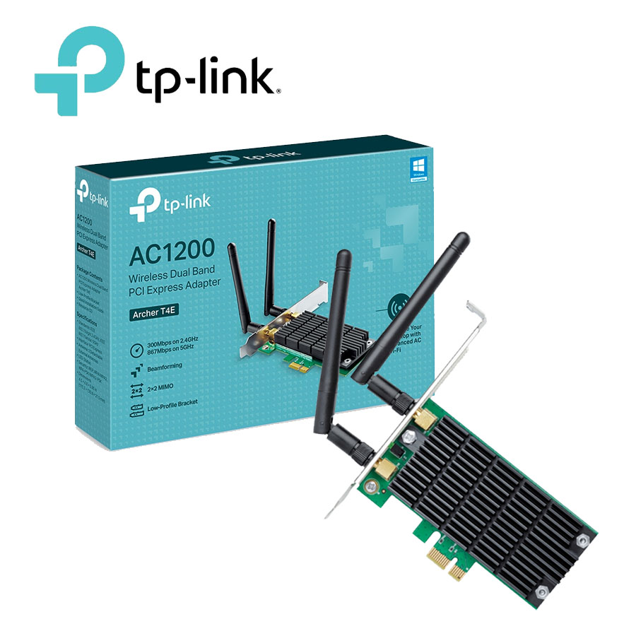 Adaptador Wifi Pci Express Dual Band Ac1200 Archer T4e