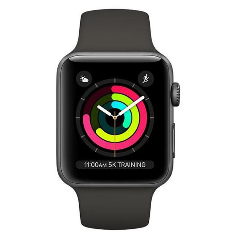 Apple Watch Series 3 38mm Space Gray Aluminum Case Com Black Sport Band