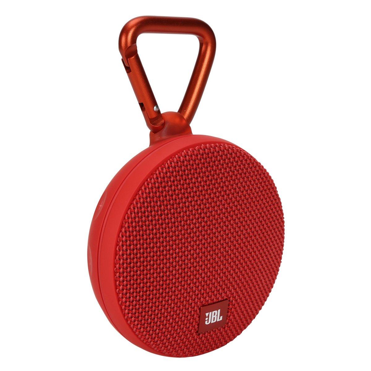 Caixa de Som JBL Clip 2 Bluetooth à Prova D'água Vermelho