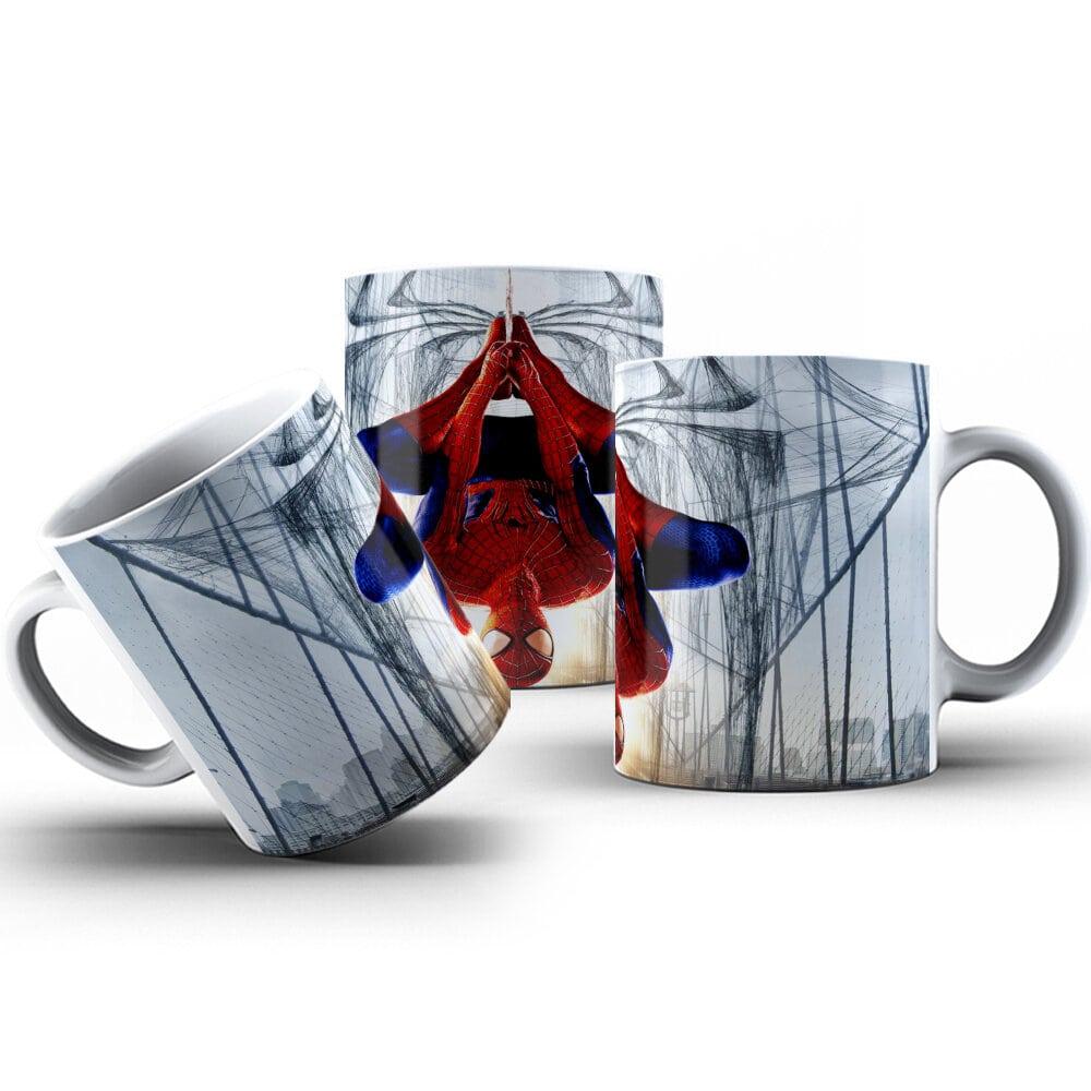 Canecas de Porcelana 325ml Personalizadas Homem Aranha