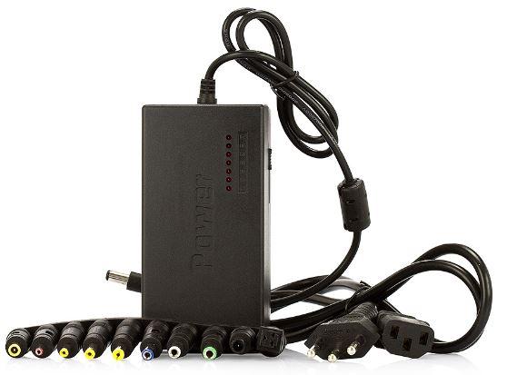 Carregador Notebook Universal Adaptador My-120W Kit 8 Plugs - Power Adapter
